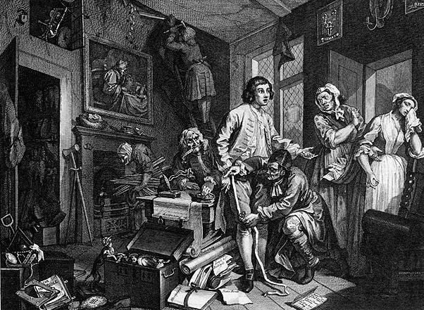Карикатура английского рисовальщика Уильяма Хогарта